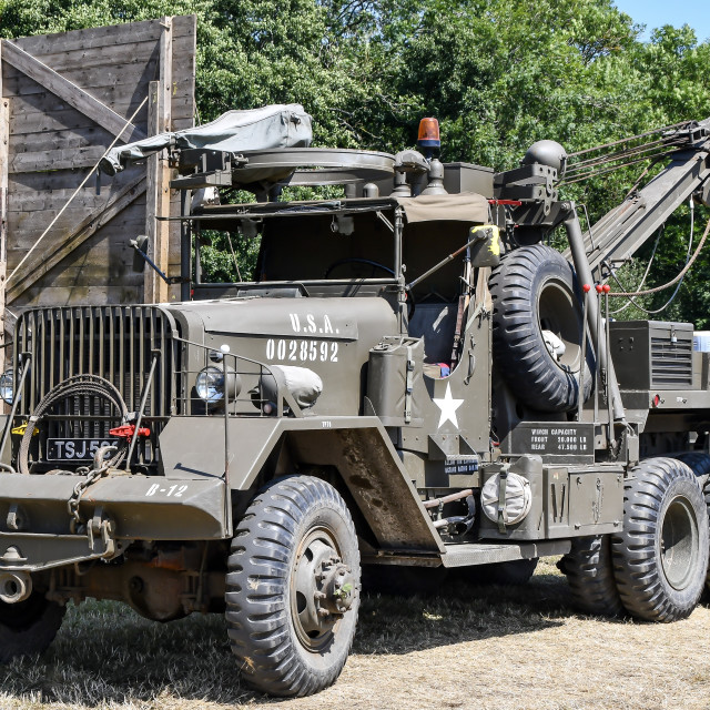 """Ward Le France M1A1 10-Ton 6x6 Heavy Wrecking Truck"" stock image"