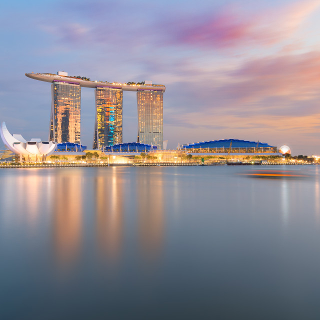 """Marina Bay Sunset"" stock image"
