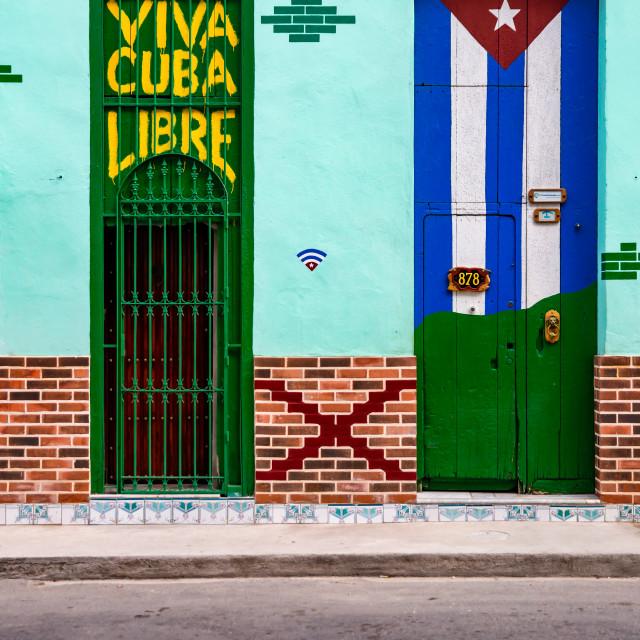 """Viva Cuba"" stock image"