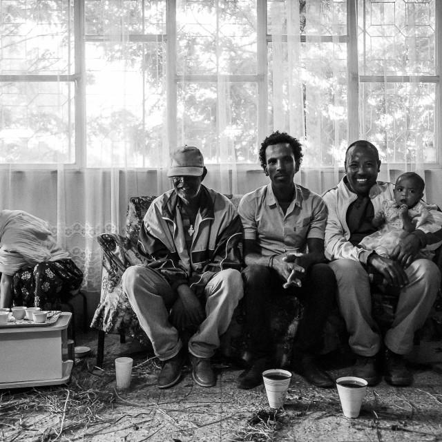 """""""Coffee Ritual - Adwa"""" stock image"""