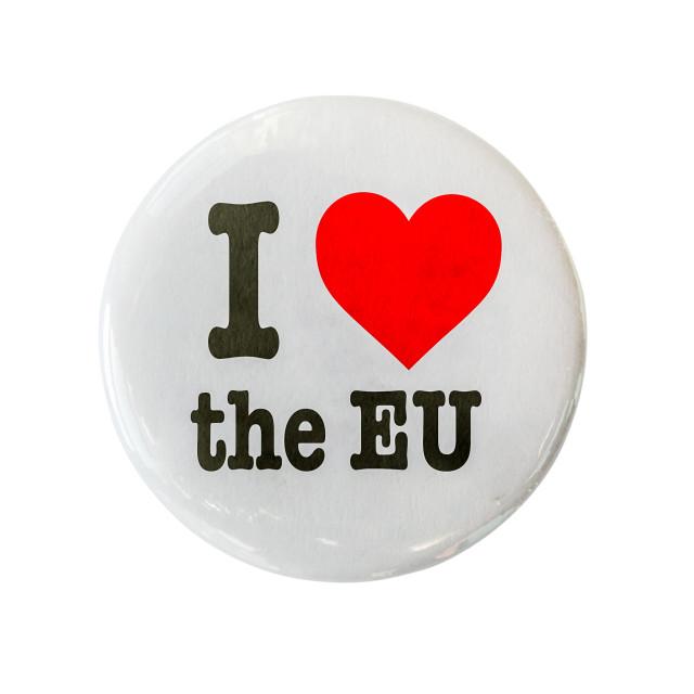 """""""I Love The EU Badge"""" stock image"""