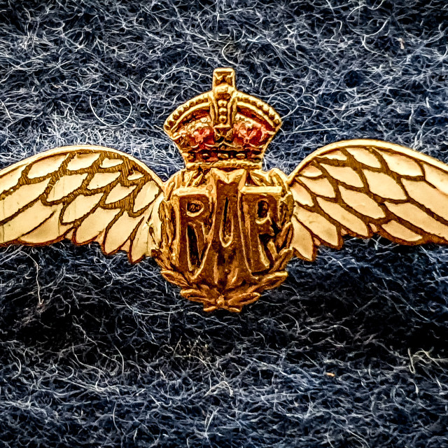 """RAF Wings"" stock image"