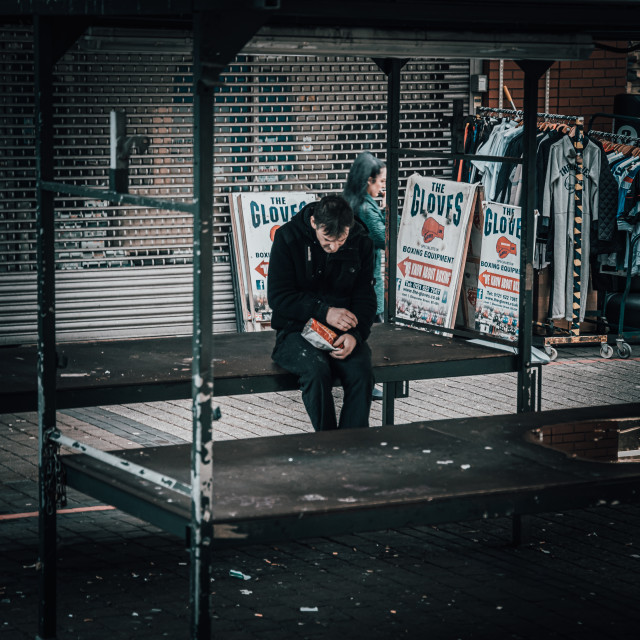"""""""Lonely guy"""" stock image"""