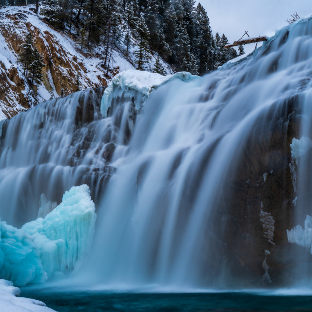 """""""Wapta Falls"""" stock image"""