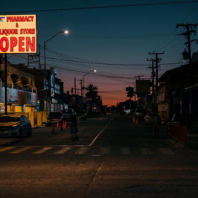 """""""Los Algodones, Mexico"""" stock image"""
