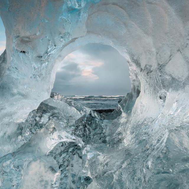 """Through the ice"" stock image"