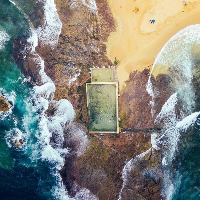 """Mona Vale Rocky Beach"" stock image"