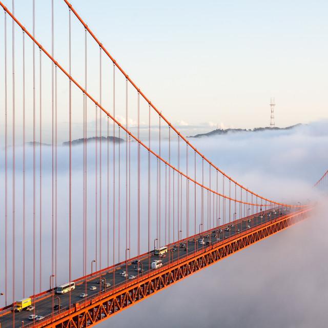 """""""Golden Gate Traffic"""" stock image"""