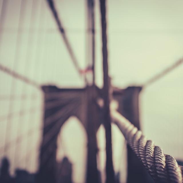 """""""The Brooklyn Bridge In NYC"""" stock image"""