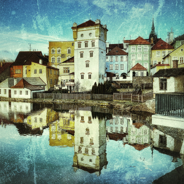 """Telc Reflected"" stock image"