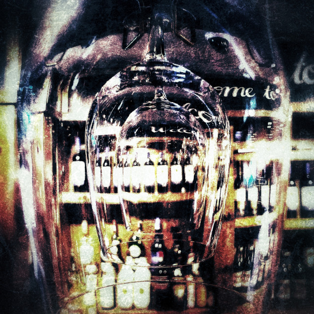 """Refraction at a bar"" stock image"