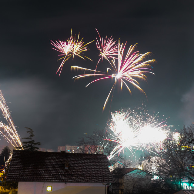 """New Year fireworks"" stock image"