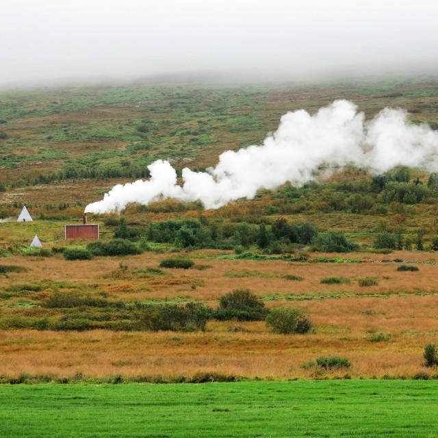 """Geothermal region of Myvatn, Iceland, Europe"" stock image"