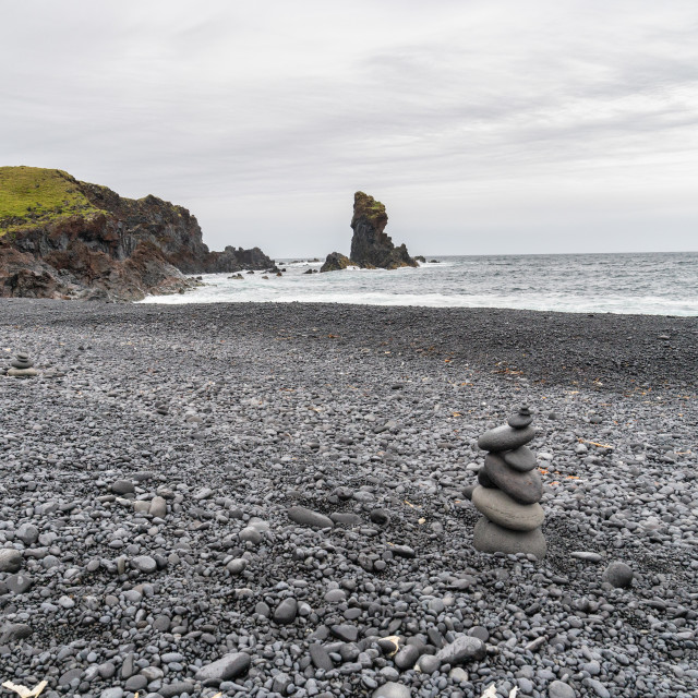 """Black Sand Beach"" stock image"