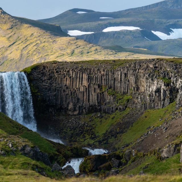 """""""Svöðufoss Iceland"""" stock image"""
