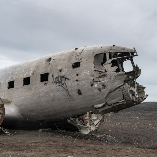 """The Plane Wreck"" stock image"