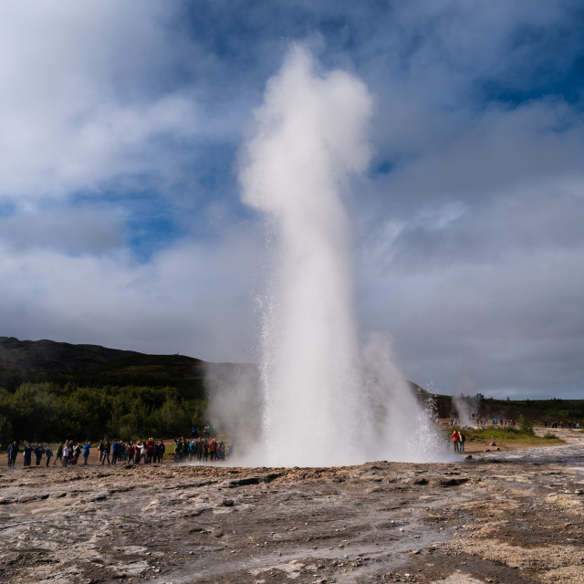 """The Big Geysir"" stock image"