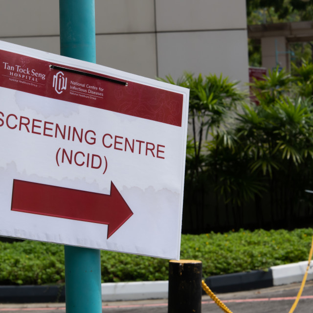 """NCID Screening Centre sign"" stock image"