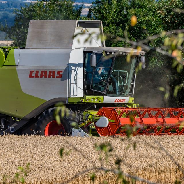 """Combine Harvester"" stock image"