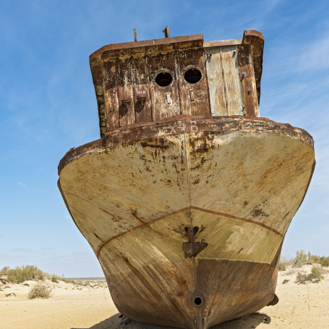 """Aral Sea Ship Graveyard"" stock image"