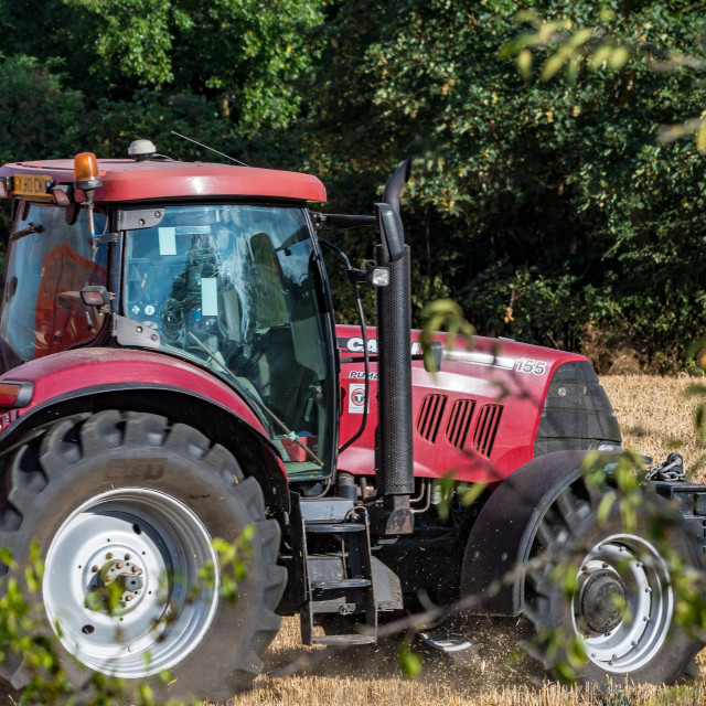 """""""Tractor in a Field"""" stock image"""