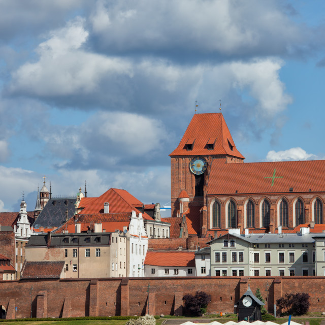 """""""Old Town of Torun in Poland"""" stock image"""