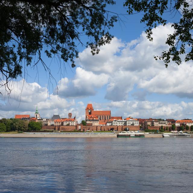 """City of Torun and Vistula River in Poland"" stock image"