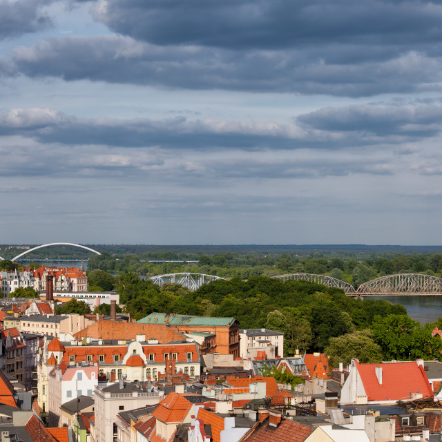 """""""City Of Torun From Above"""" stock image"""
