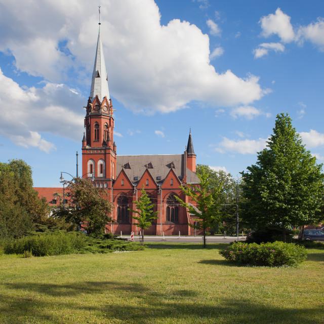 """Saint Stephen Church in Torun"" stock image"