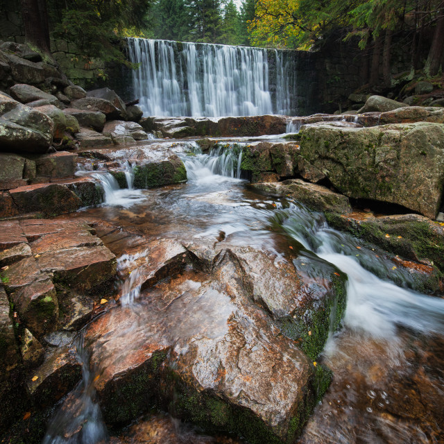 """""""Mountain Stream With Waterfall"""" stock image"""