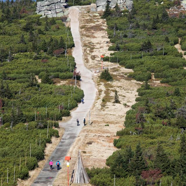 """""""Trail in Karkonosze Mountains"""" stock image"""