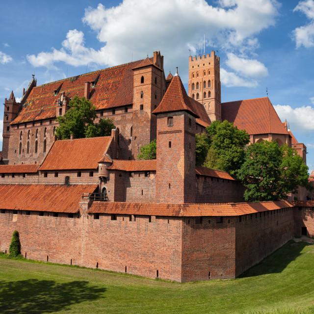 """The Malbork Castle"" stock image"