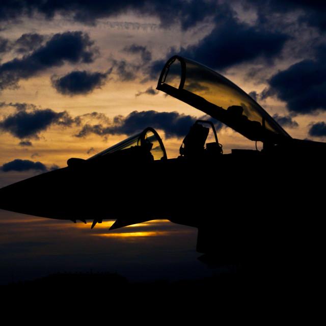 """""""Typhoon Sunset"""" stock image"""