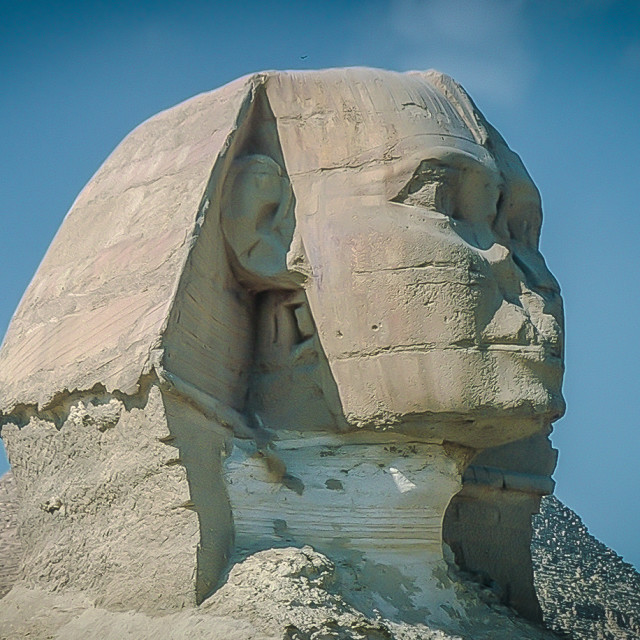 """""""The Sphinx at the Giza Pyramids"""" stock image"""
