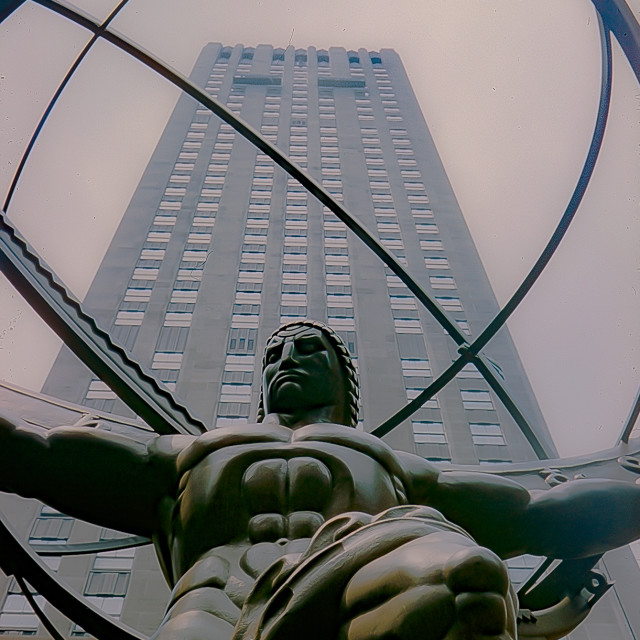 """Atlas Statue, New York City"" stock image"