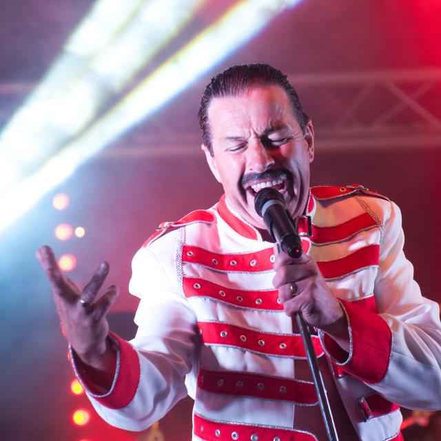 """Freddie Mercury tribute"" stock image"
