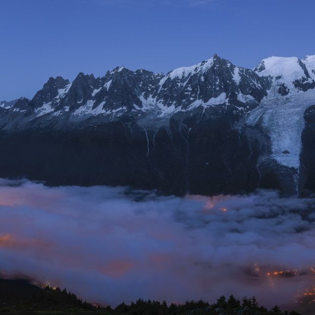 """Mont Blanc nights"" stock image"