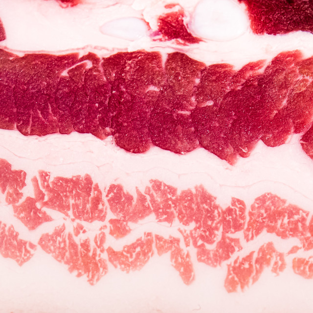"""Bacon meat extreme close up detail full frame"" stock image"