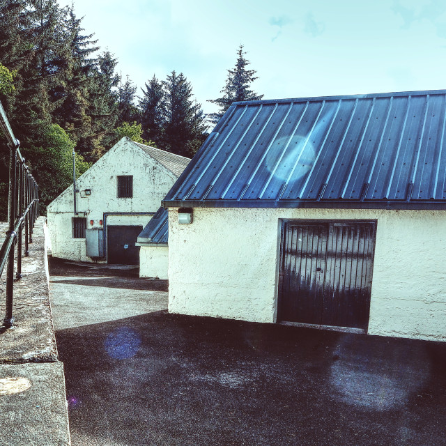 """""""Distillery Outbuildings"""" stock image"""