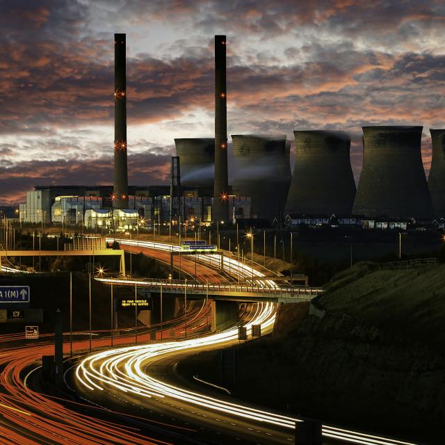 """Ferrybridge Power Station."" stock image"