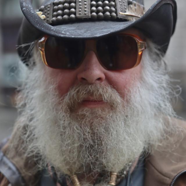 """The bearded cowboy."" stock image"