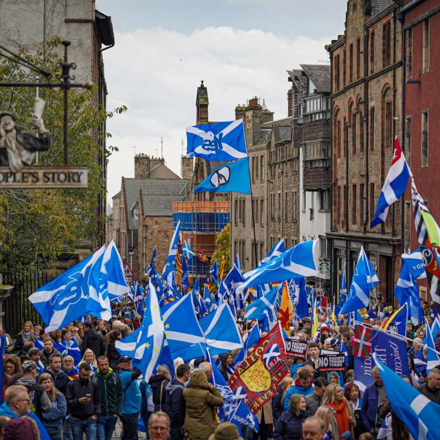 """Scottish Independence March in Edinburgh"" stock image"