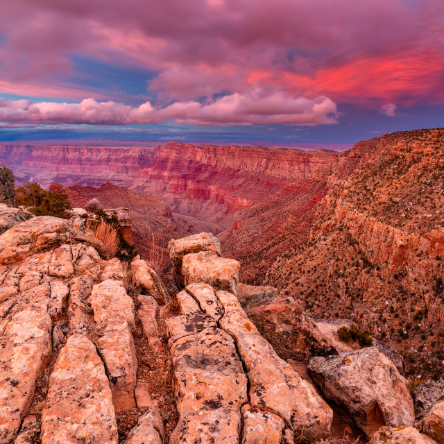"""Grand Canyon sunset"" stock image"