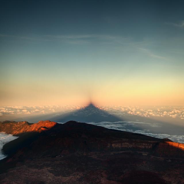 """""""The Shadow Of El Teide"""" stock image"""