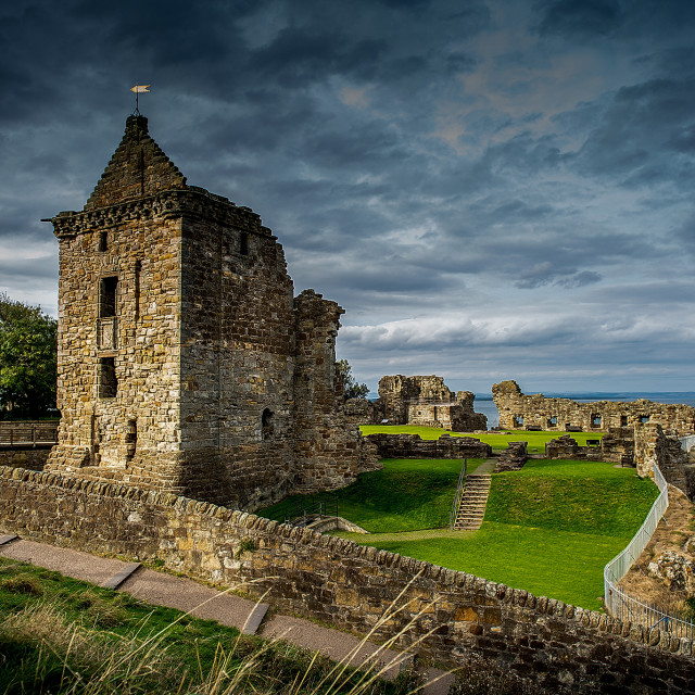 """St Andrews Castle"" stock image"