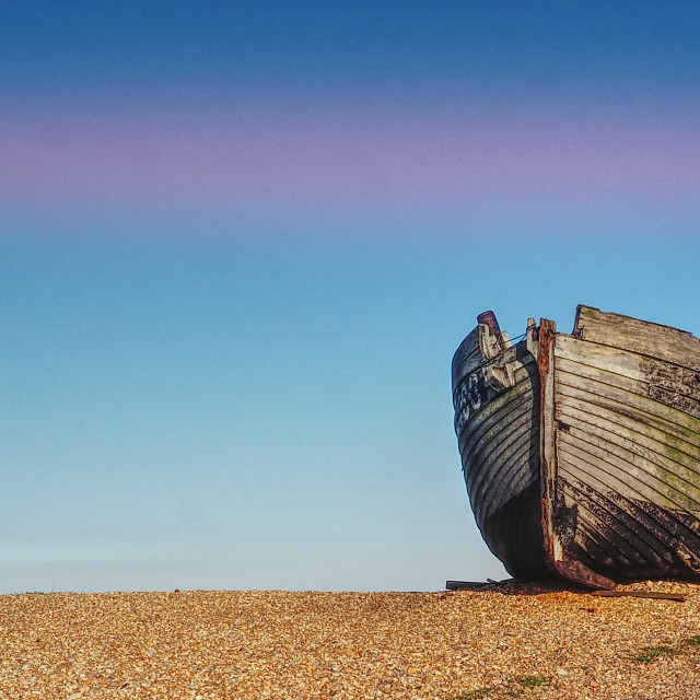 """Old Boat Dungeness"" stock image"