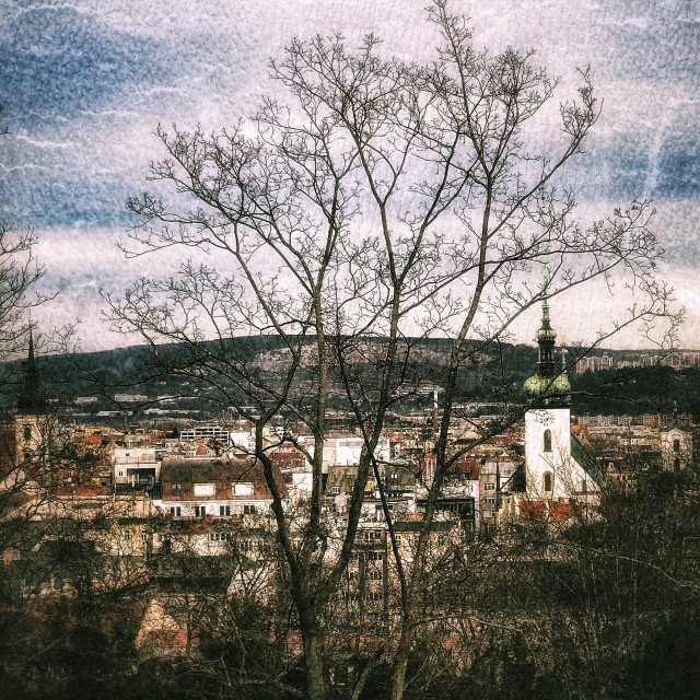 """""""Brno Skyline"""" stock image"""