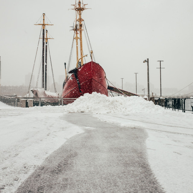 """Winter Ship"" stock image"