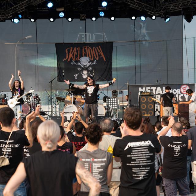 """SKELETOON at Metal for Emergency 2018"" stock image"