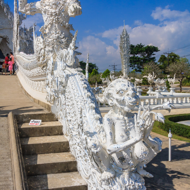 """Wat Rong Khun buddhist temple"" stock image"